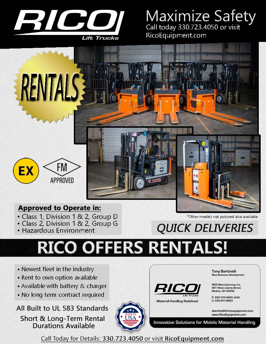 RICO Equipment Explosion Proof Rental Flyer